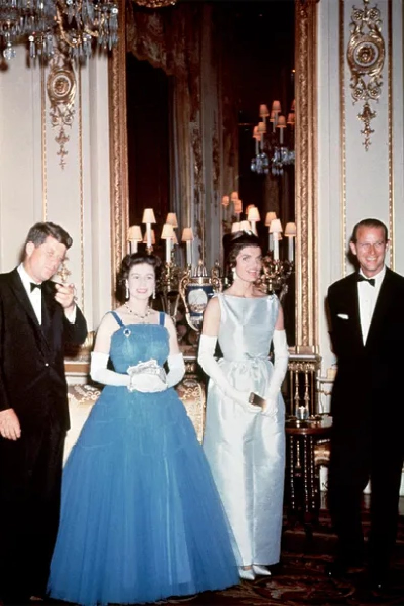 Image may contain Clothing Apparel Human Person Jacqueline Kennedy Onassis Robe Gown Evening Dress and Fashion