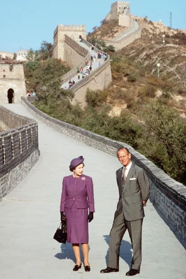 Image may contain Prince Philip Duke of Edinburgh Anne Princess Royal Clothing Apparel Footwear Shoe and Coat