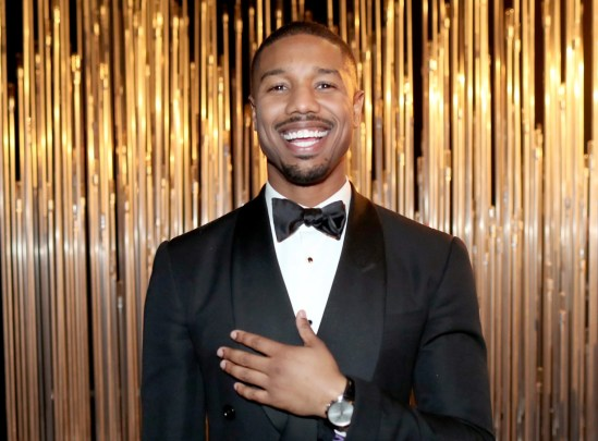 Michael B. Jordan smiling and wearing a black tuxedo, one of the celebrity allies of 2020