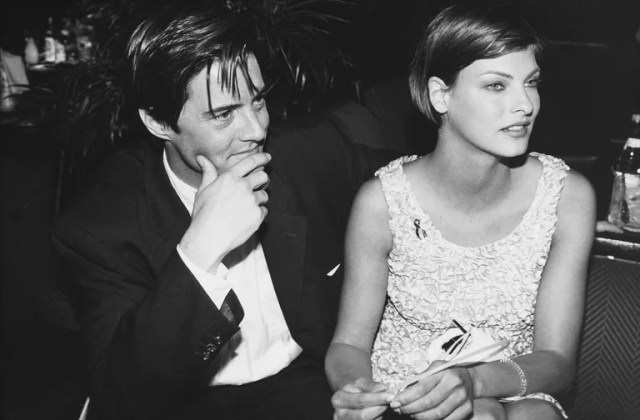 Kyle MacLachlan and Linda Evangelista at Cannes, 1995