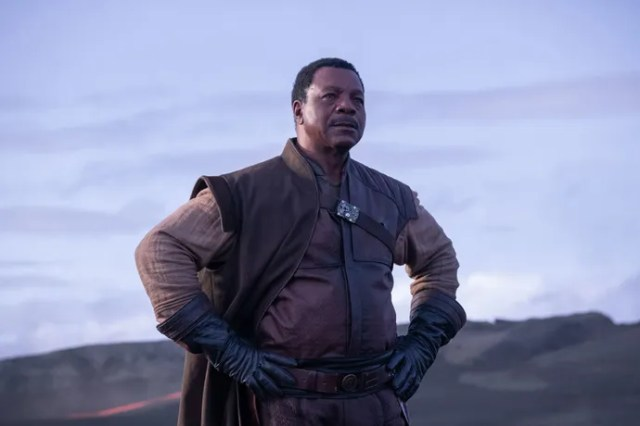 Carl Weathers in a scene from The Mandalorian.