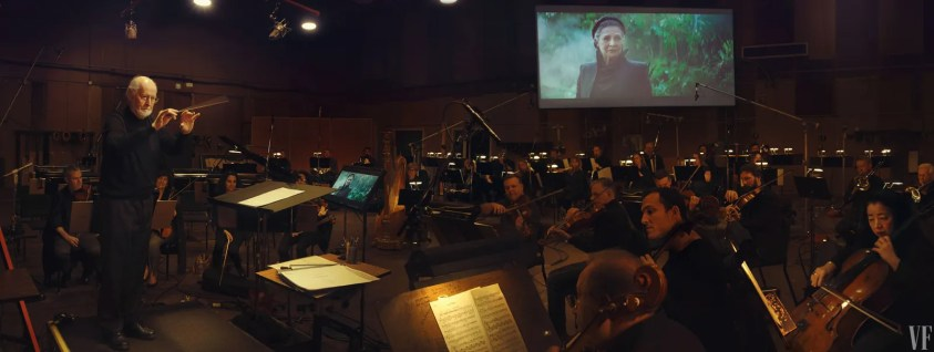 Composer John Williams conducting the Star Wars score.