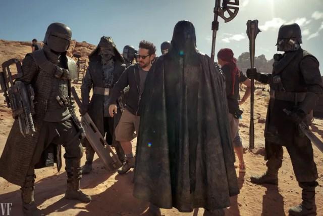 J.J. Abrams, alongside Stunt Coordinator Eunice Huthart, and the Knights of Ren.
