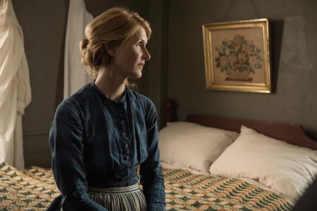 Laura Dern as Marmee, the March sisters' beloved matriarch. Because her husband (Bob Odenkirk) is fighting in the Civil War, Marmee is raising the four girls on her own.