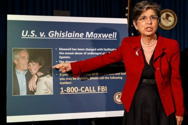 Audrey Strauss acting United States attorney for the southern district of New York speaks during a news conference to...