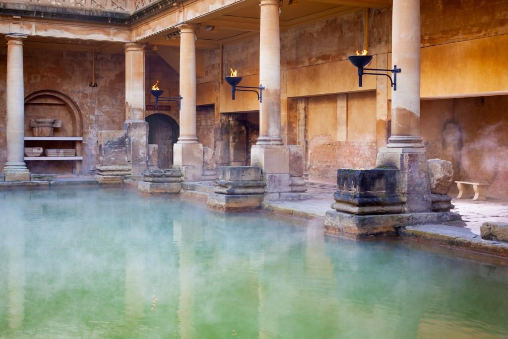 resor, resa, Storbritannien, England, Bath, spastad, Romarriket, de romerska baden i Bath