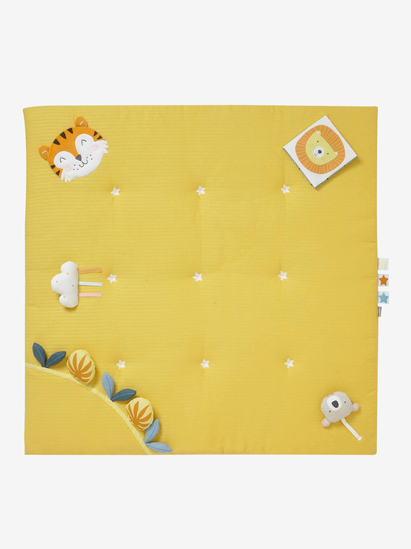 tapis d eveil en lange sans arche tropik moutarde jouet