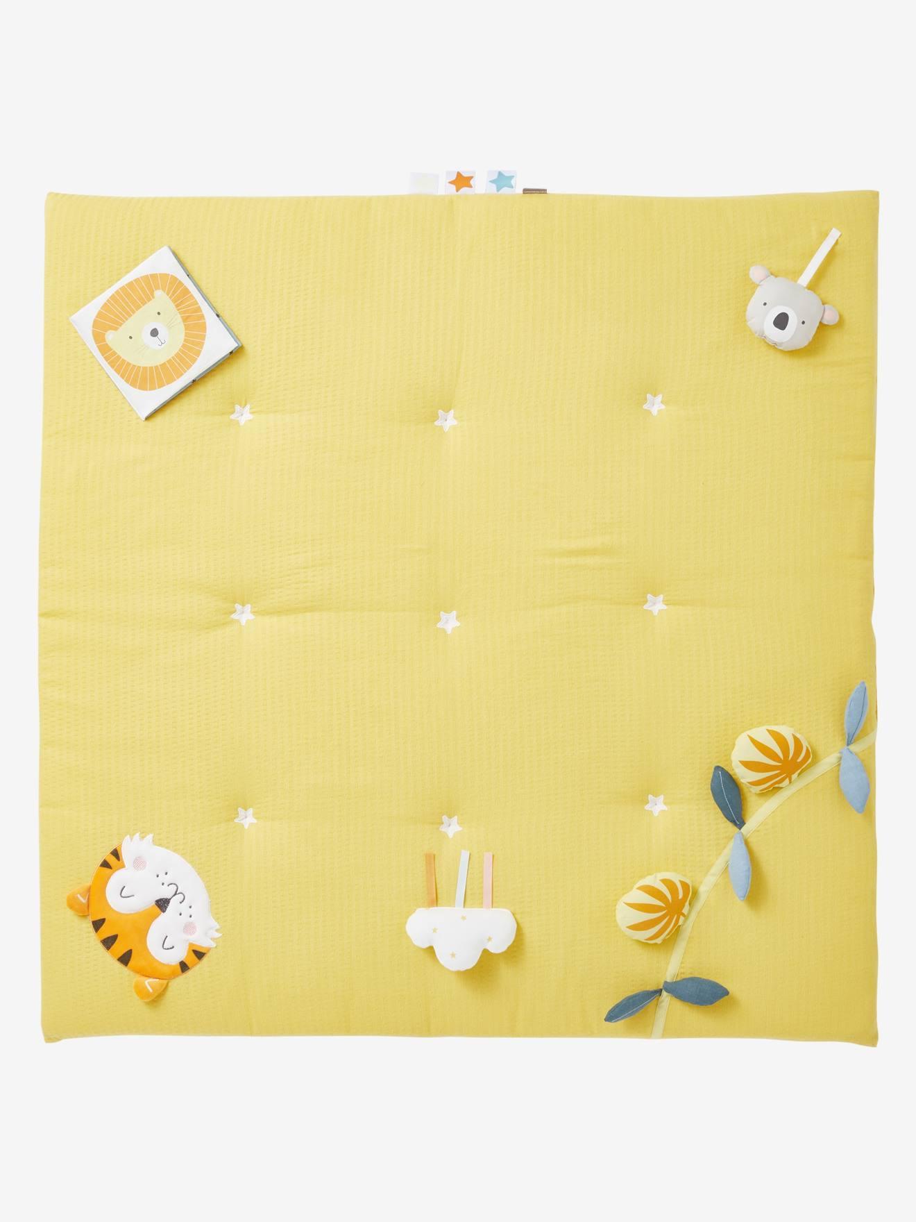 tapis d eveil en lange sans arche tropik moutarde