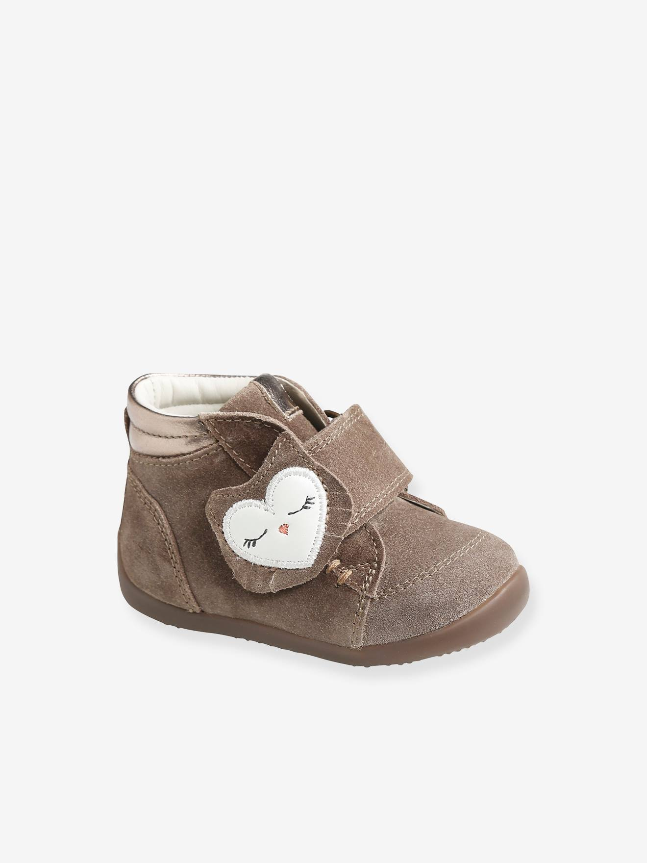 Baby Shoes With Ankle Support : shoes, ankle, support, Leather, Ankle, Boots, Girls,, Designed, First, Steps, Brown, Medium, Solid,, Shoes