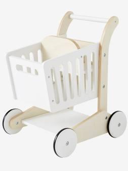 Chariot de course en bois blanc 1 - vertbaudet enfant