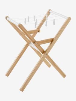 Etendoir à linge en bois blanc 1 - vertbaudet enfant