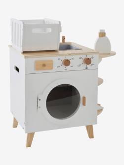 Machine à laver et à repasser en bois blanc 1 - vertbaudet enfant