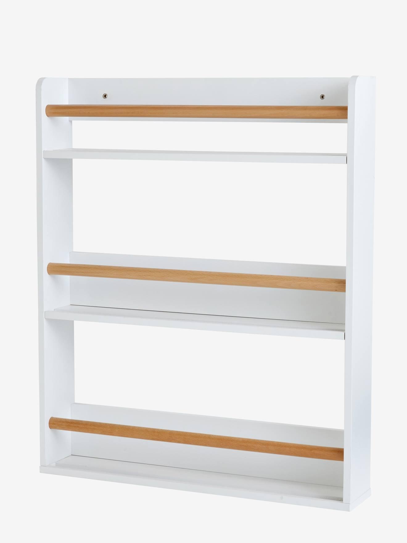 etagere a livres 3 niveaux blanc bois