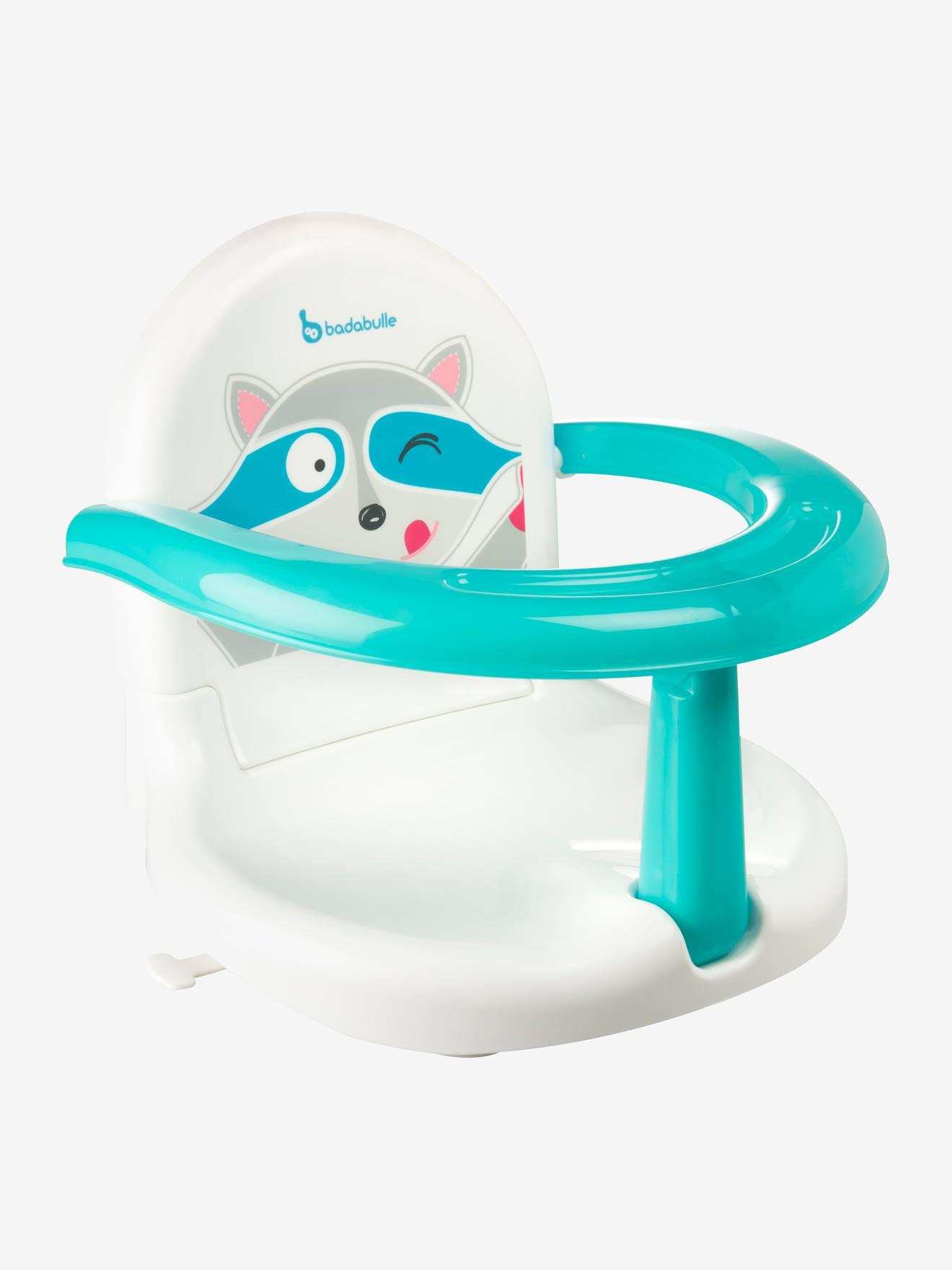 fauteuil de bain pliable badabulle raton blanc bleu