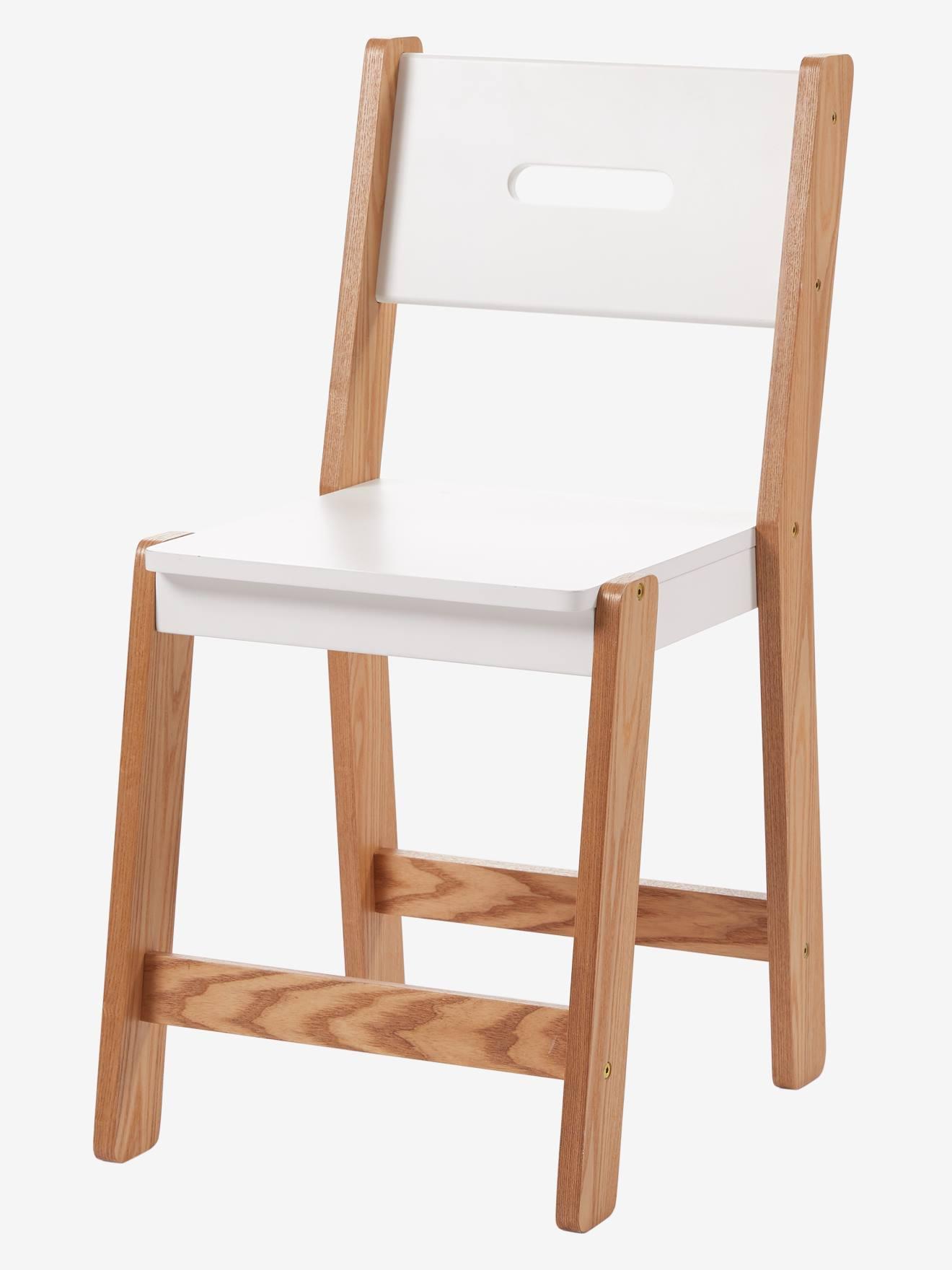 chaise primaire assise h 45 cm ligne architekt blanc bois