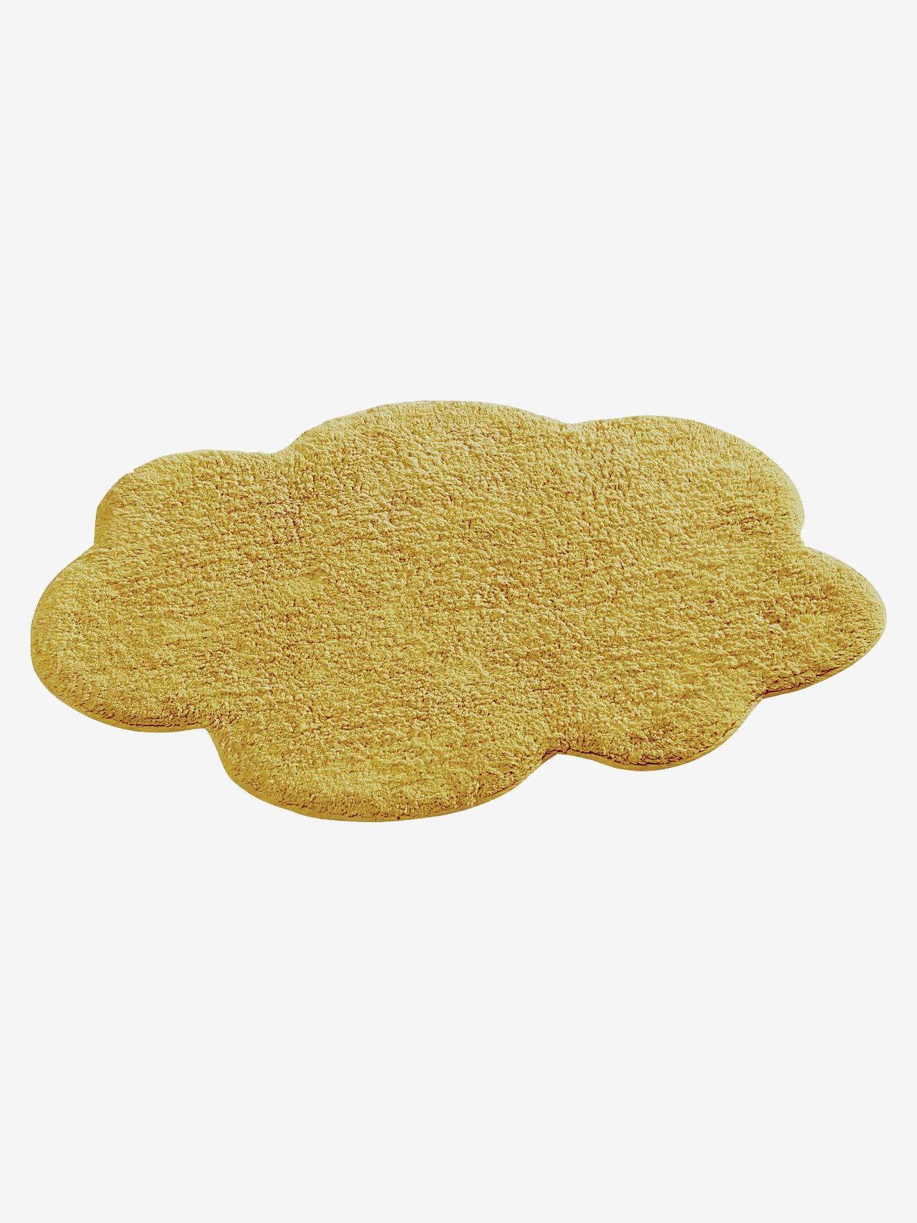 tapis nuage jaune moutarde