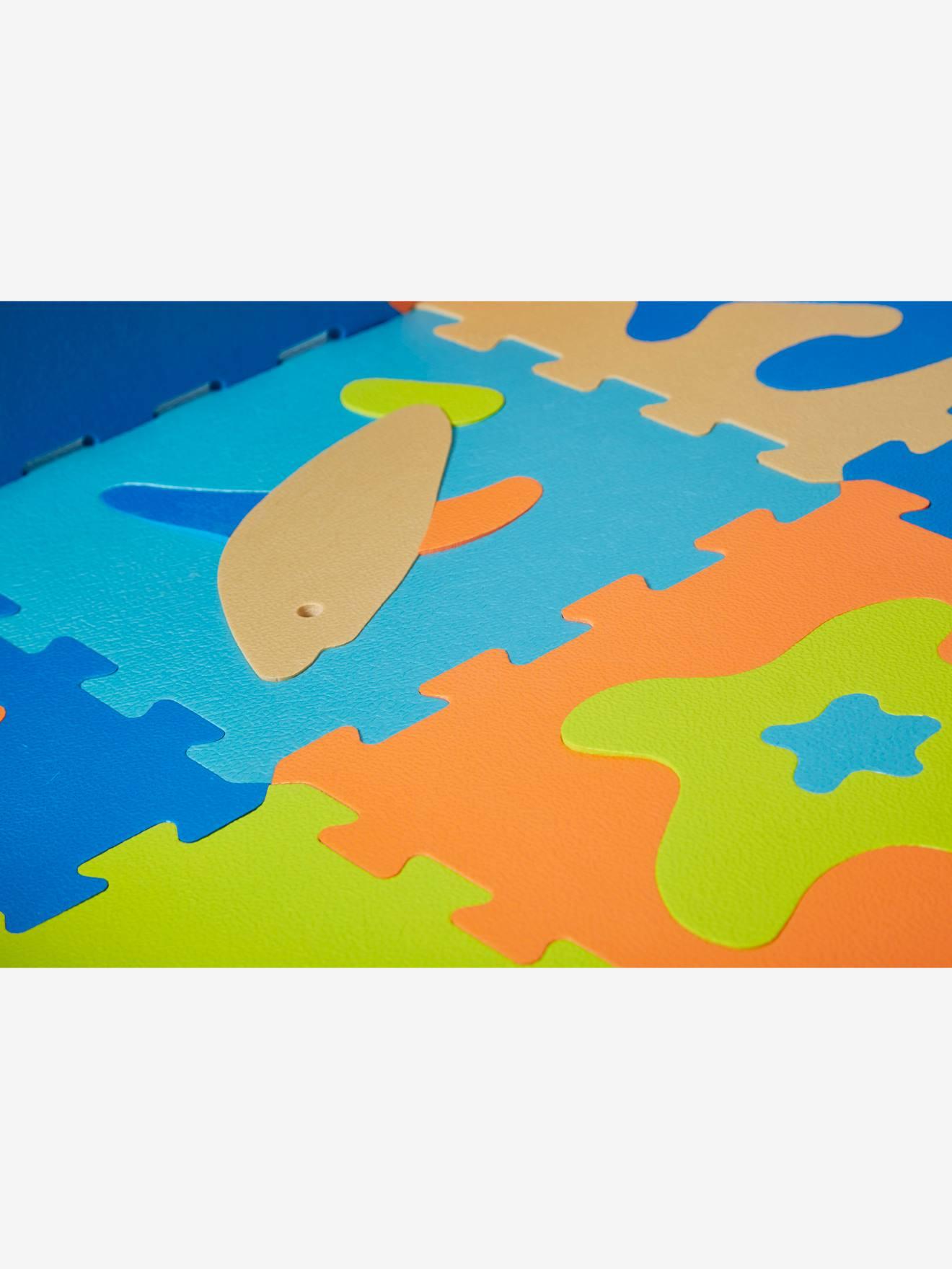 tapis puzzle geant en mousse ocean bleu