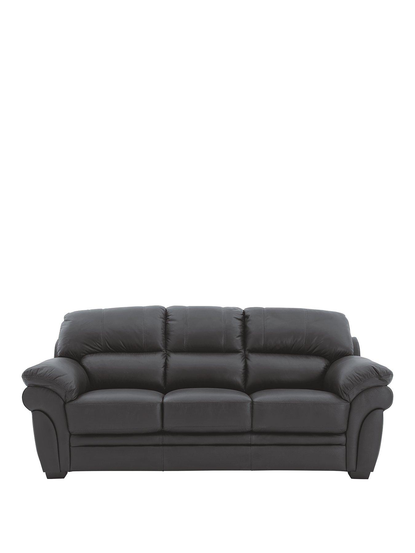 the leather sofa company uk how to clean a with dove soap portland 3 seater very co