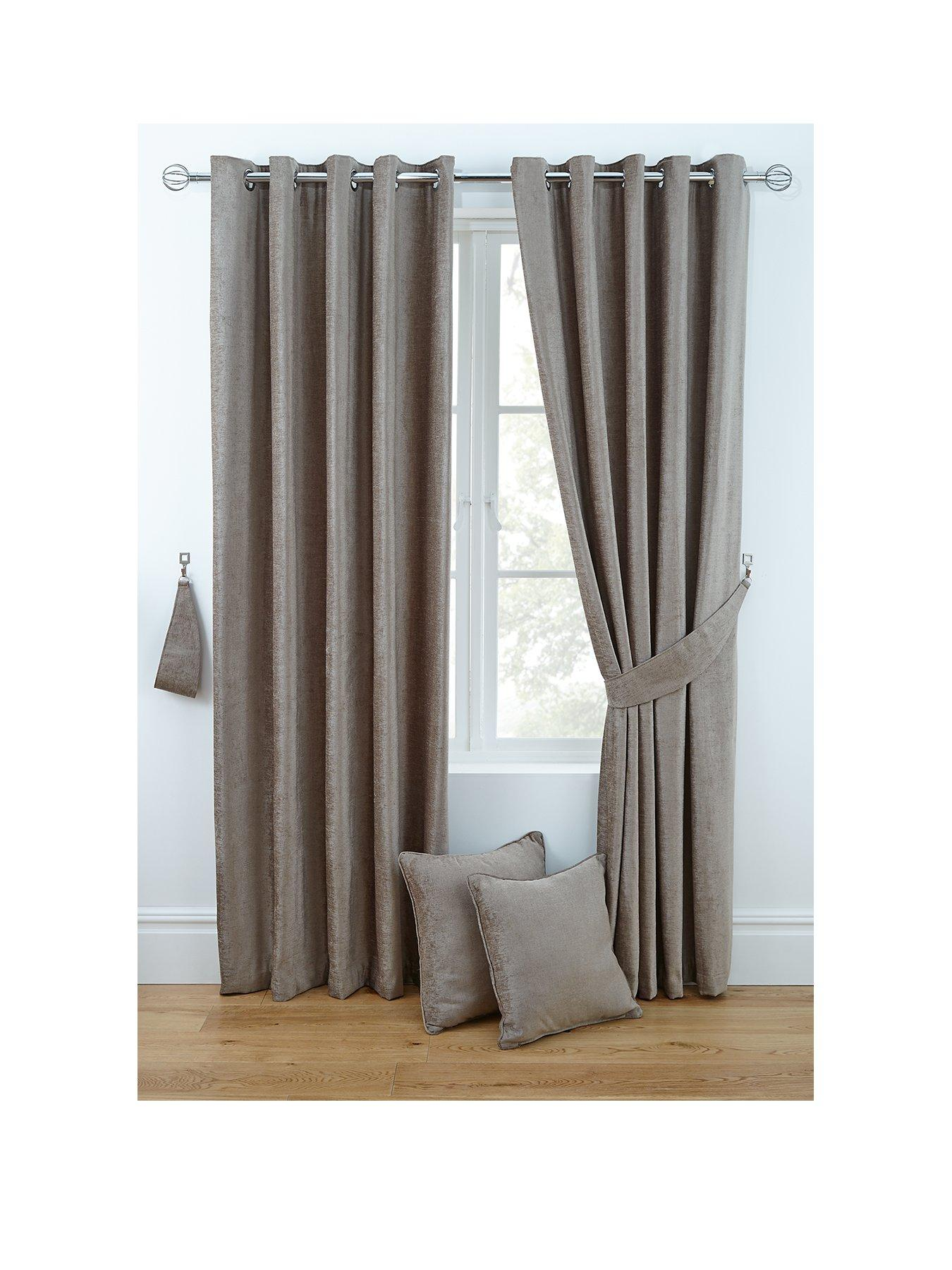 curtains in living room images sofa designs nigeria blinds very co uk luxury chenille eyelet