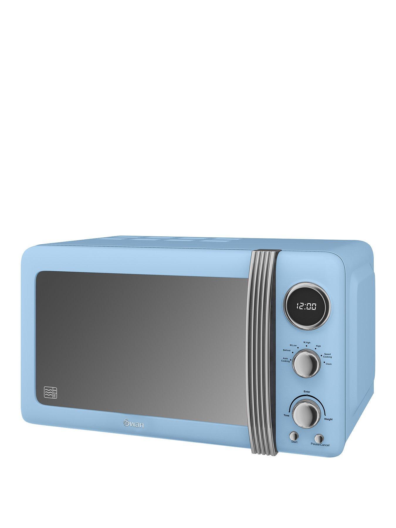 sm22030bln retro 20 litre digital microwave blue