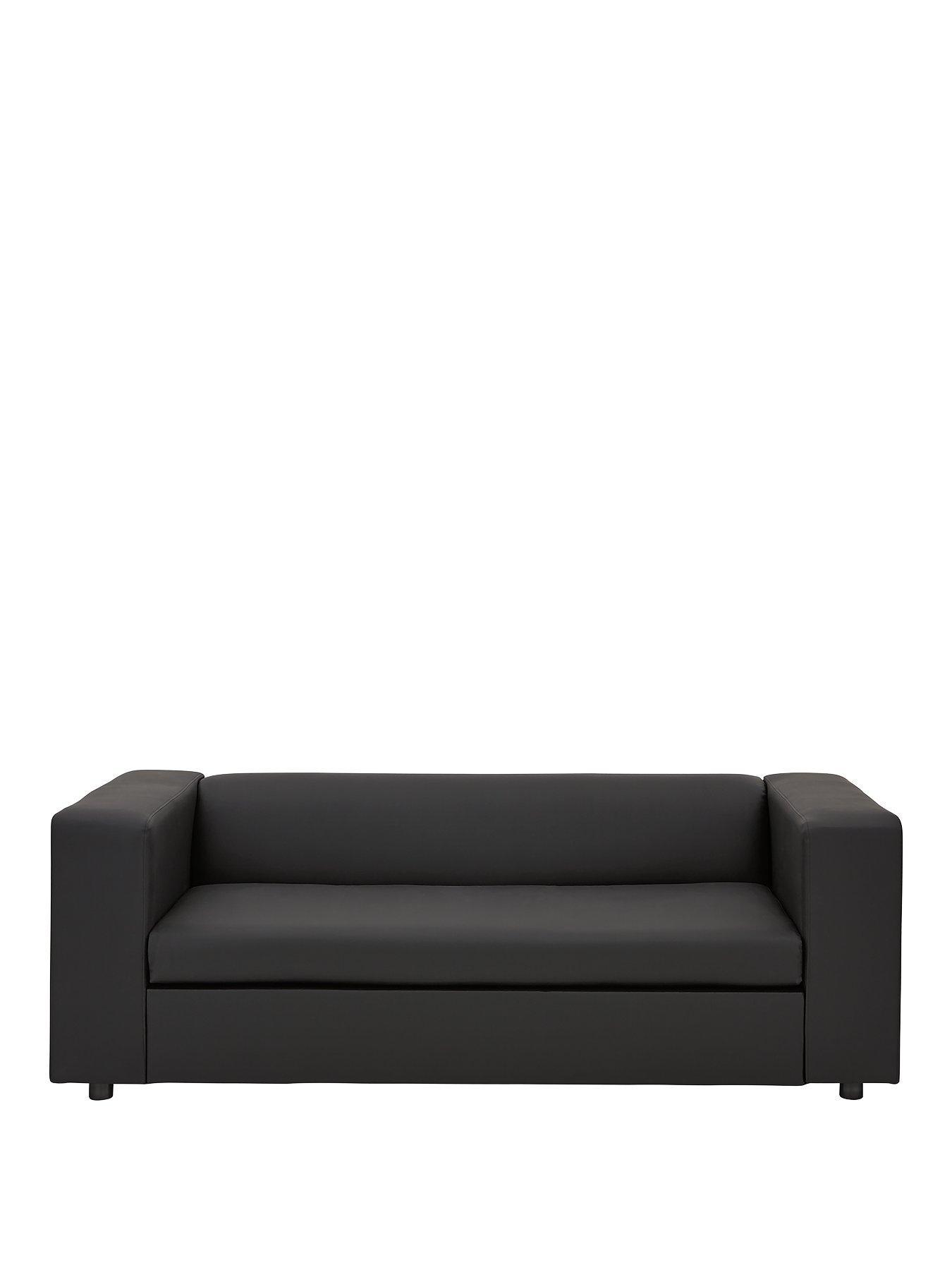 faux leather sofa bed uk kuka tamara grey fabric chaise clarke very co