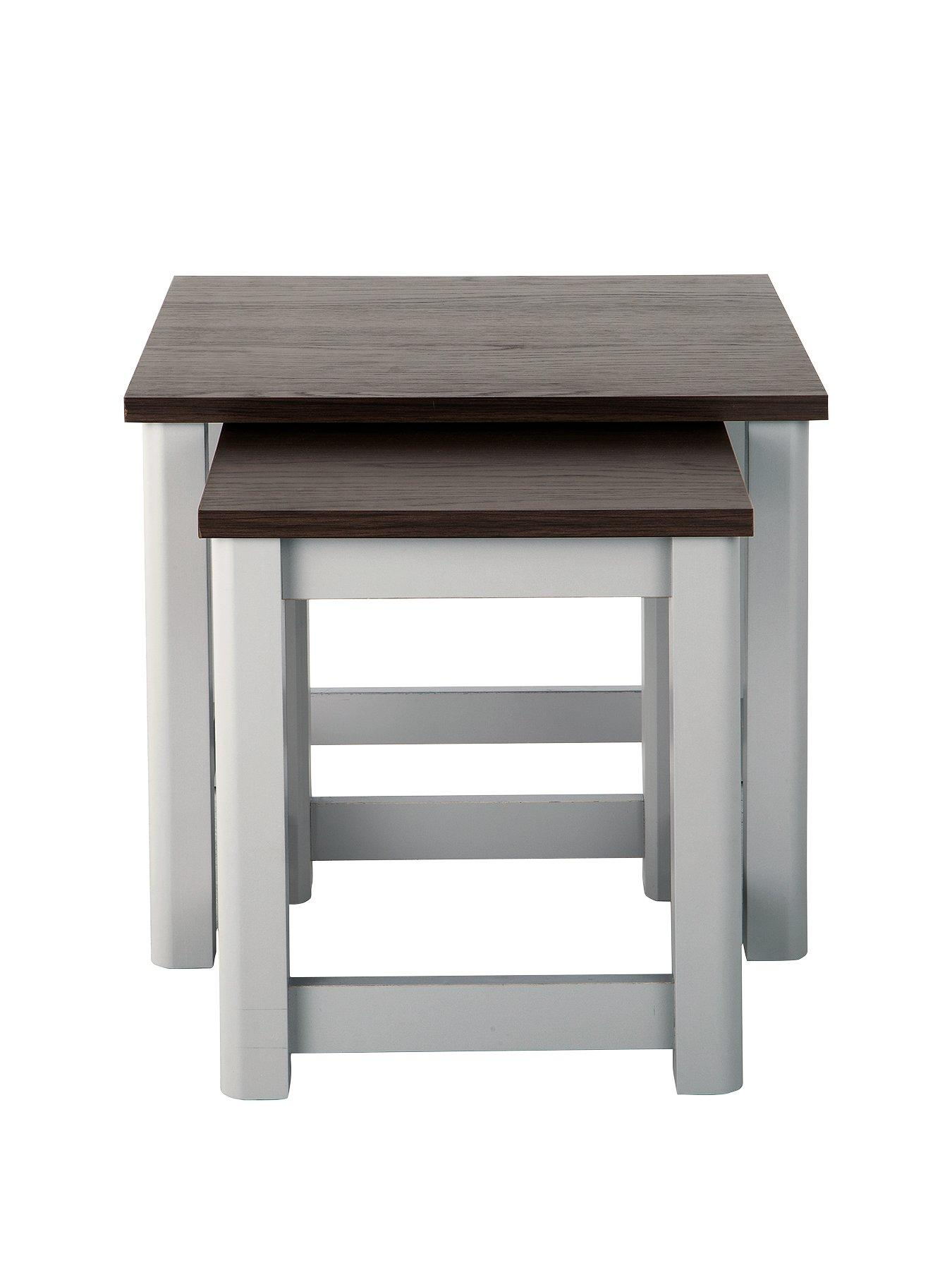 black living room tables light color design very co uk consort tivoli ready assembled nest of 2 grey walnut effect
