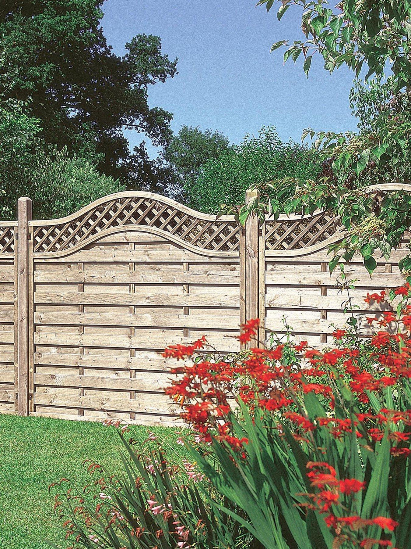 Forest 1 8m Prague Garden Fence Panels Pack Of 4 Very Co Uk