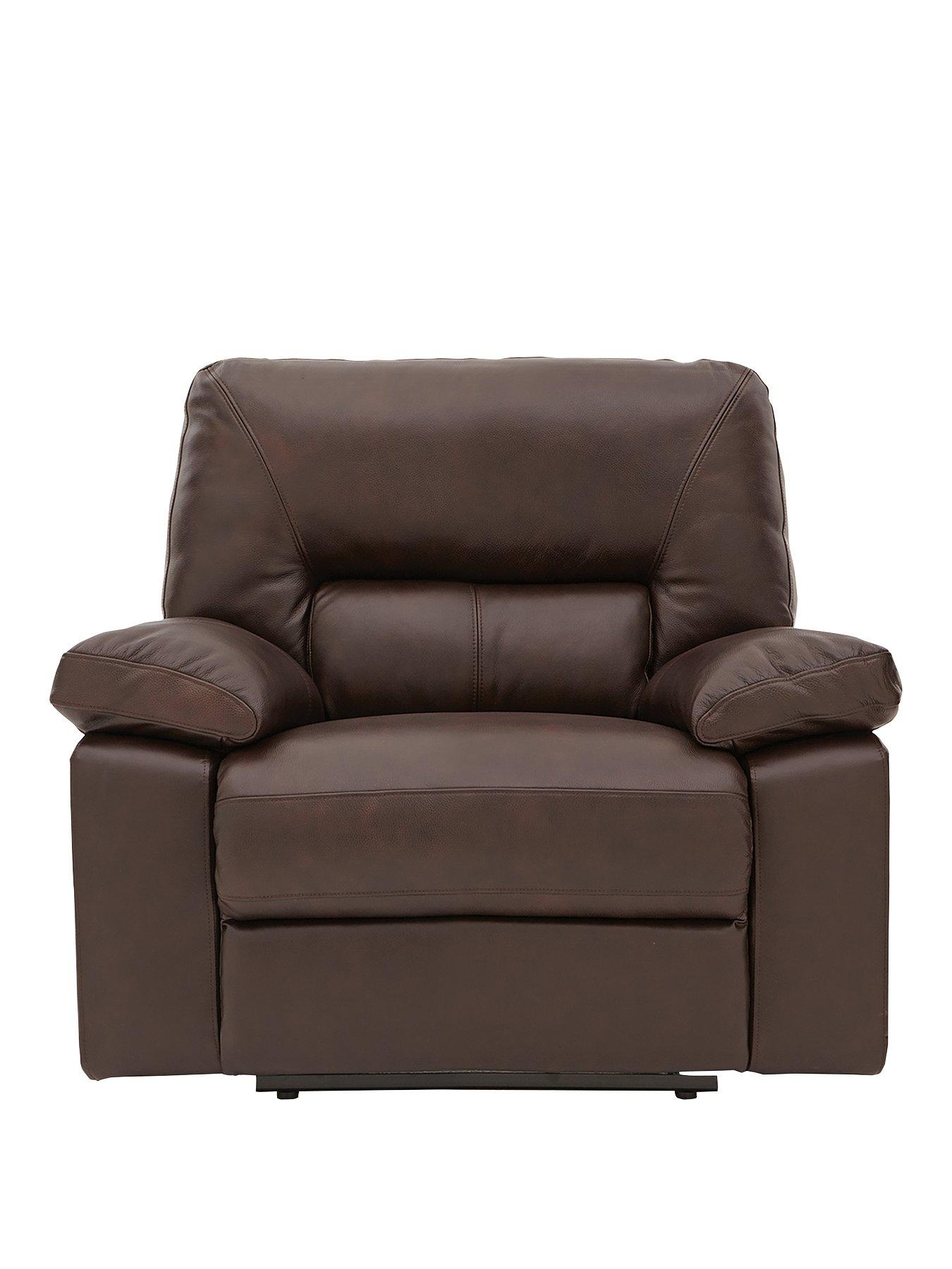 power recliner chairs uk orange arm chair newberg premium leather armchair very co