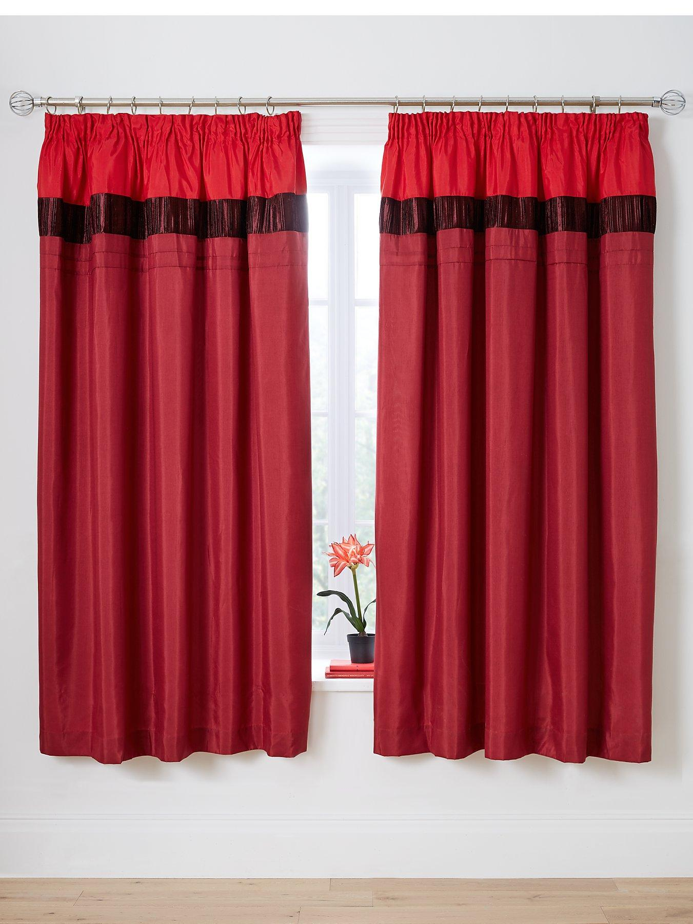 red curtains | living room, bedroom, more| very.co.uk