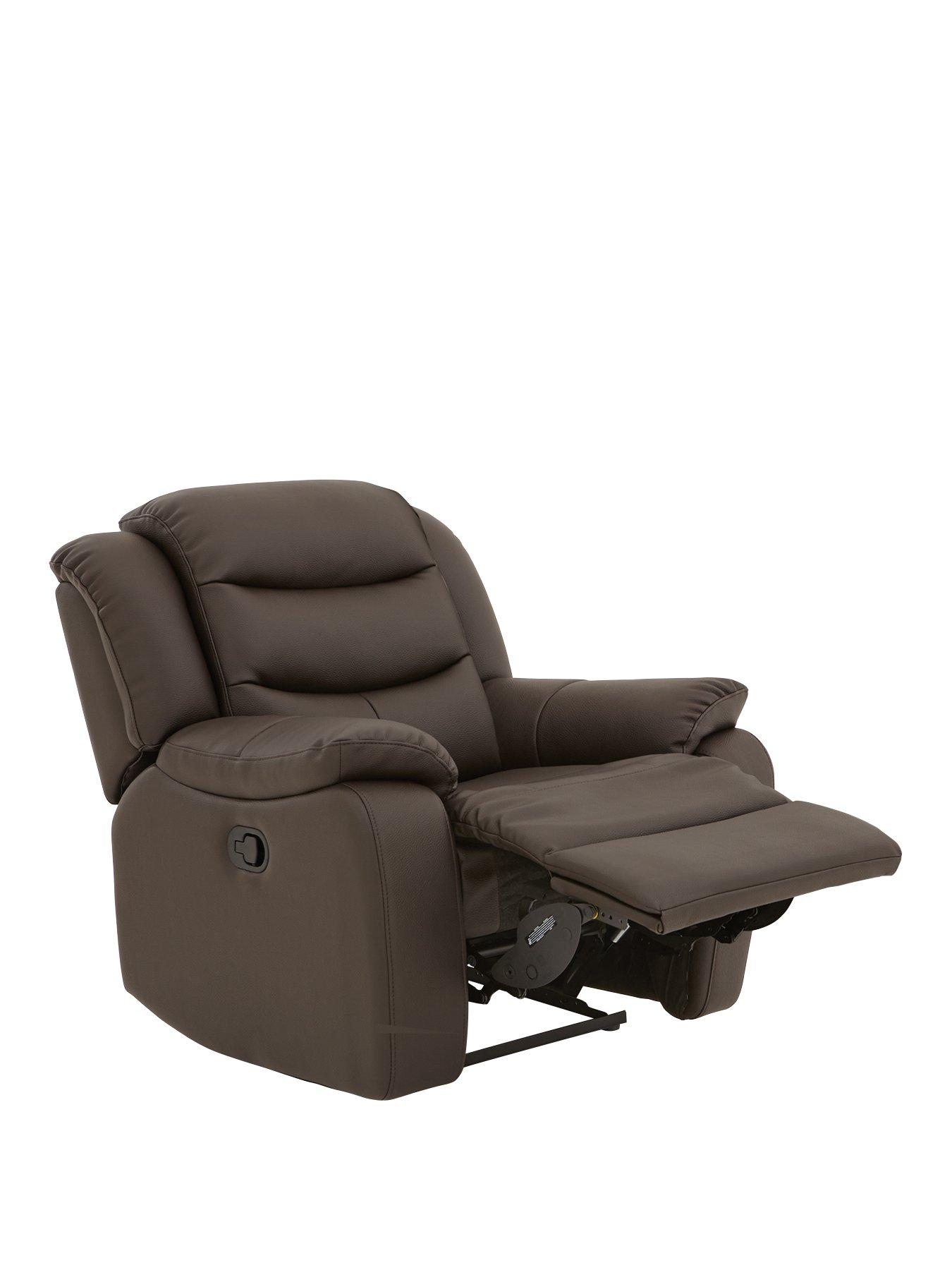 recliner chairs uk beach and umbrella armchairs home garden www very co rothbury luxury faux leather manual armchair