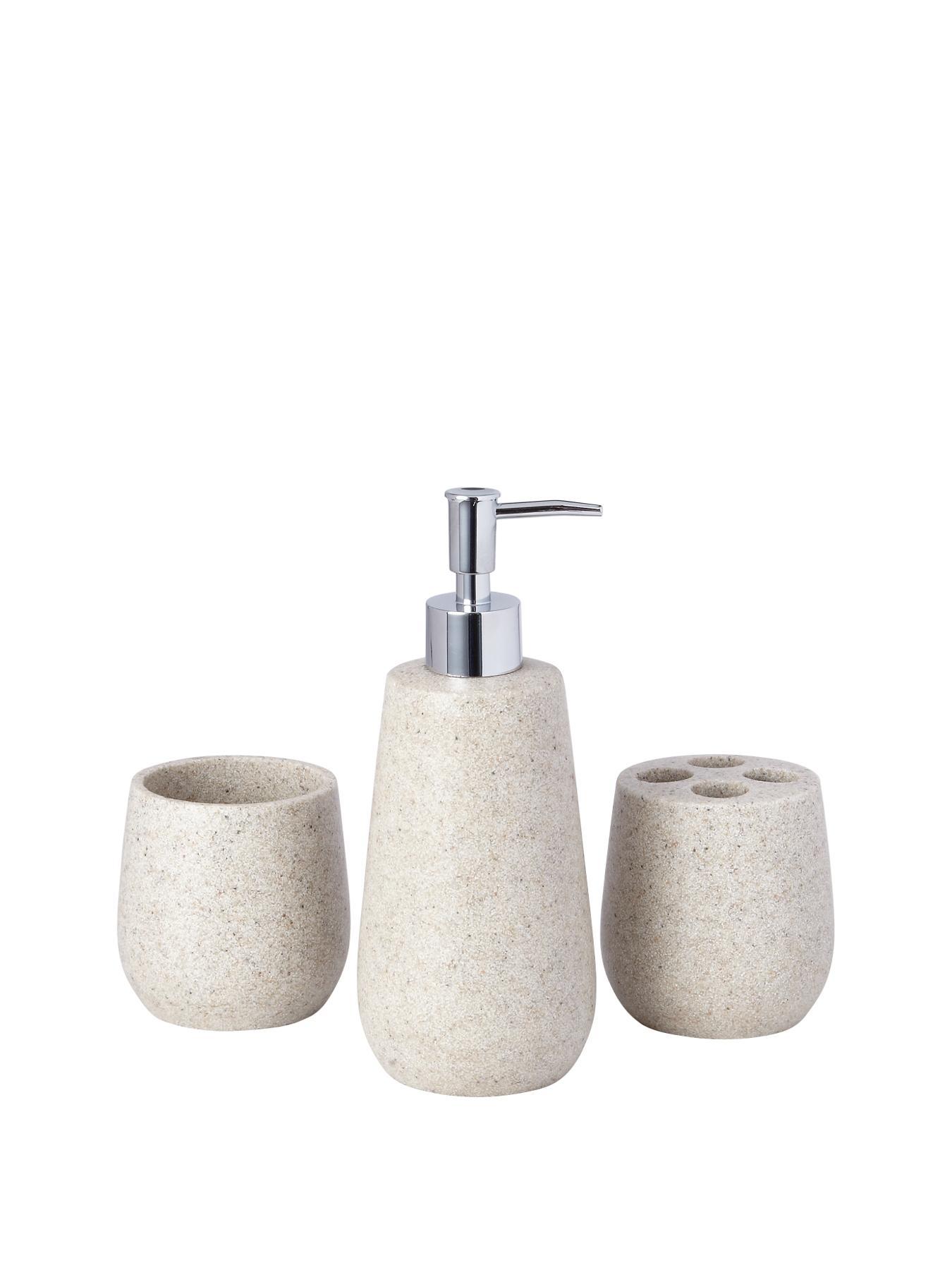 StoneEffect 3Piece Bathroom Accessory Set  verycouk
