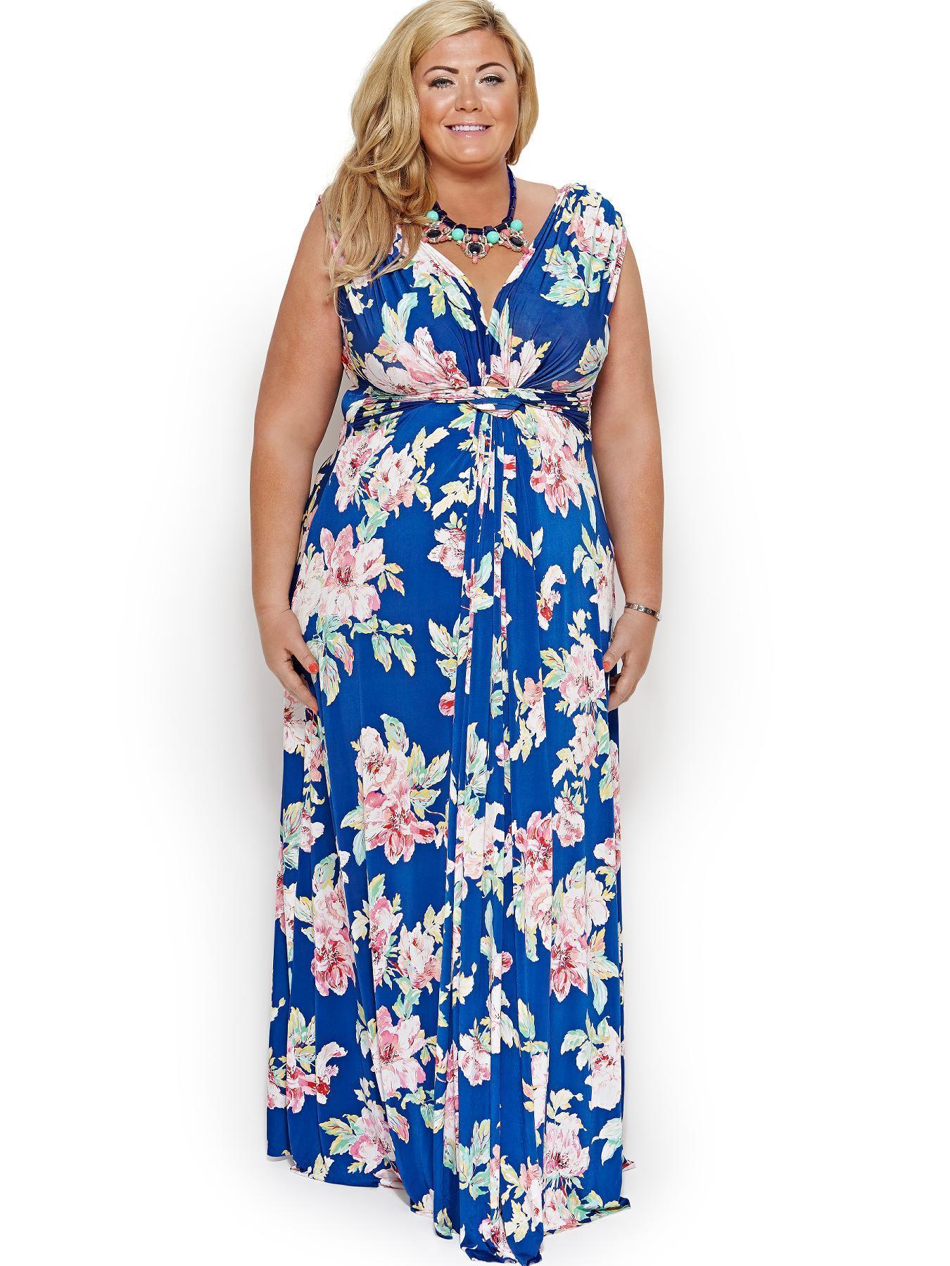 Hawaiian Floral Maxi Dress