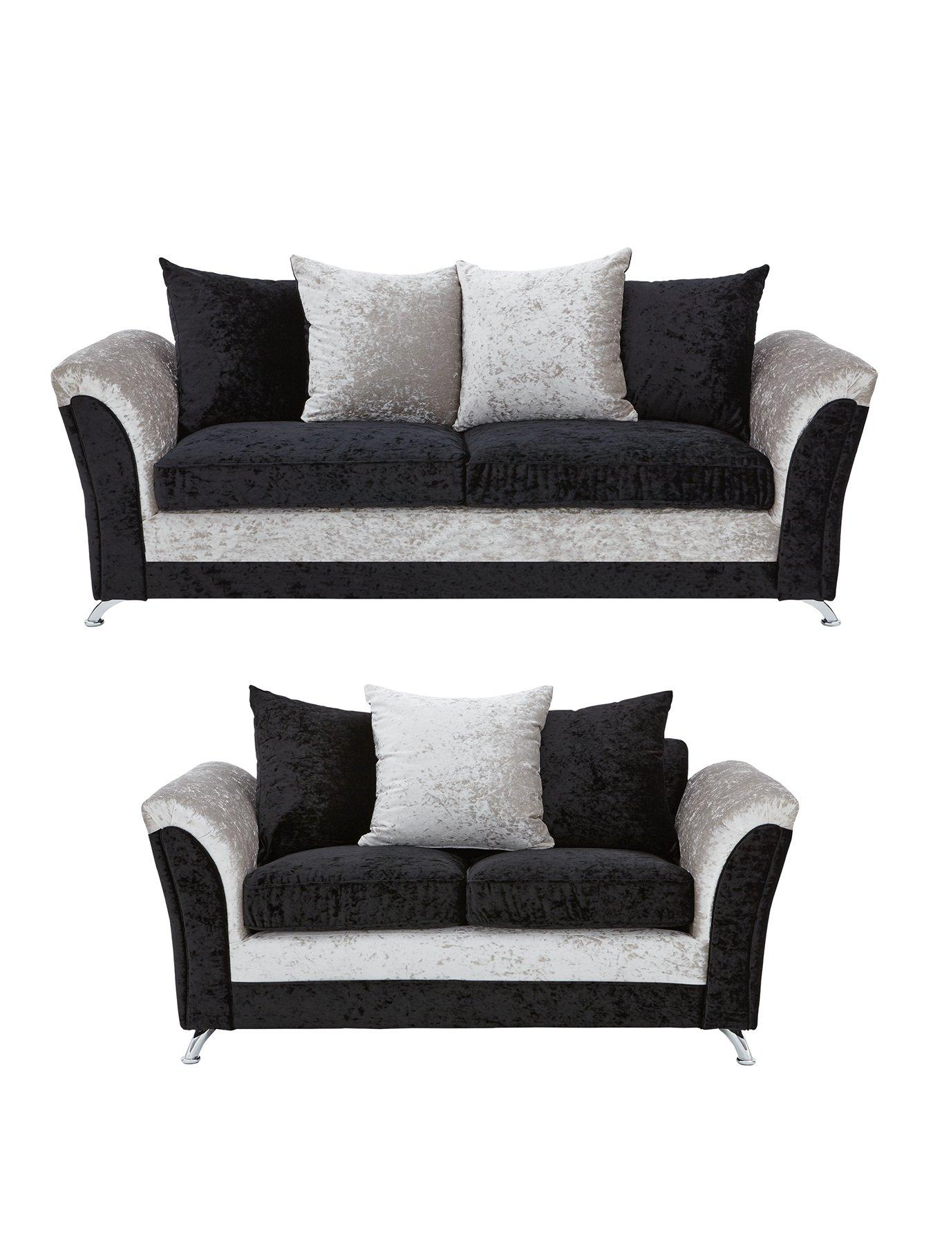 3 seater fabric sofa newport convertible bed zulu 2 set buy and save very co uk