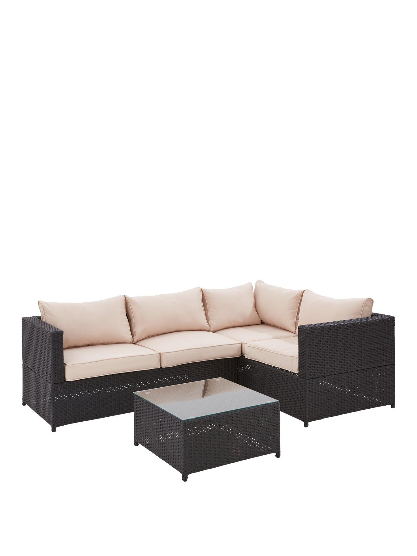 palermo rattan effect corner sofa set cover large leather sofas uk garden furniture outdoor www very co vancouver 3 piece