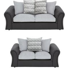 Buy Sofa Uk Black Fabric Gumtree Linear 3 Seater Plus 2 Scatterback Compact Set And Save Very Co