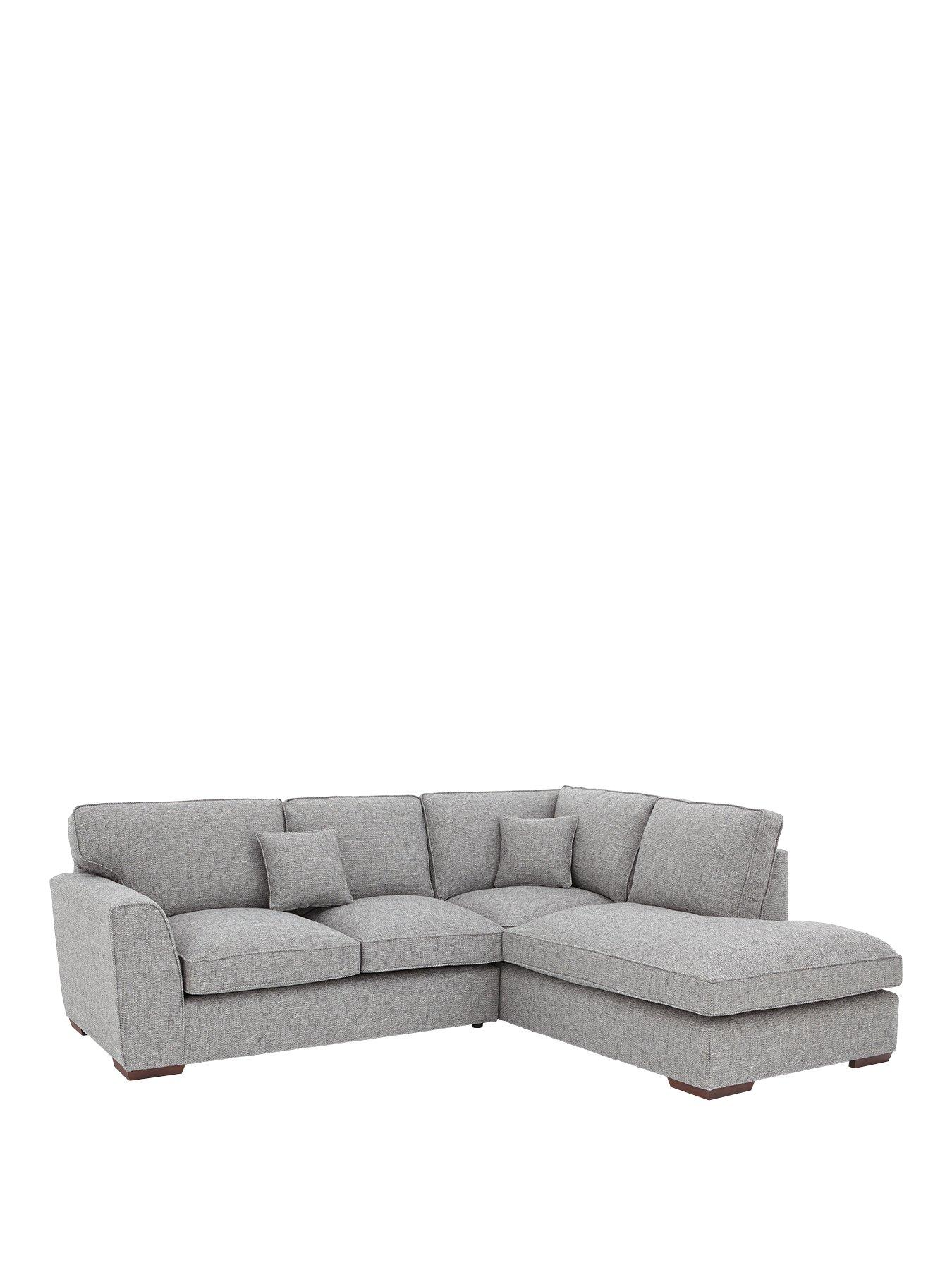 rio standard back fabric right hand corner chaise sofa