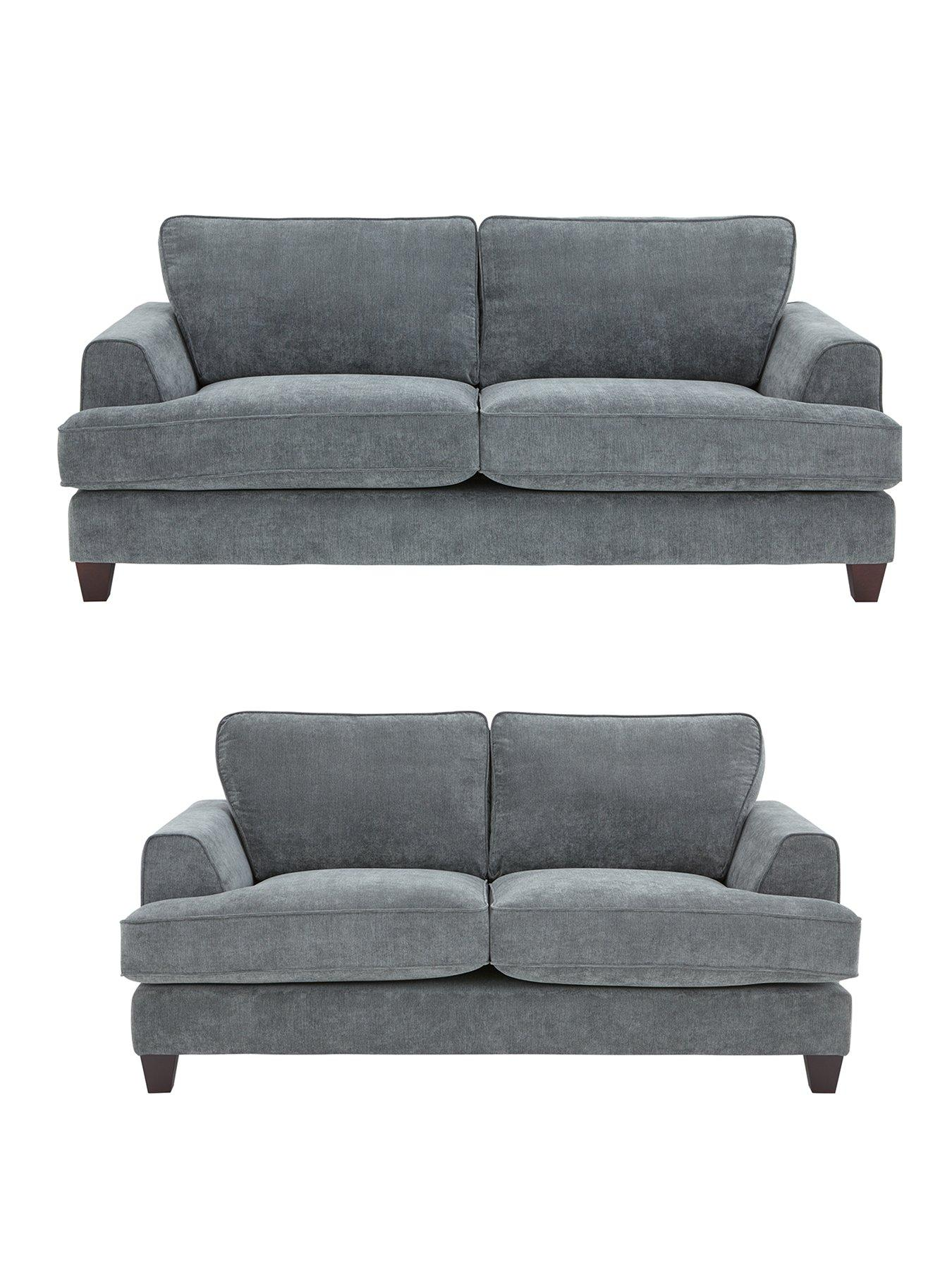 buy sofa uk cat resistant ideal home new camden 3 seater 2 fabric set and save