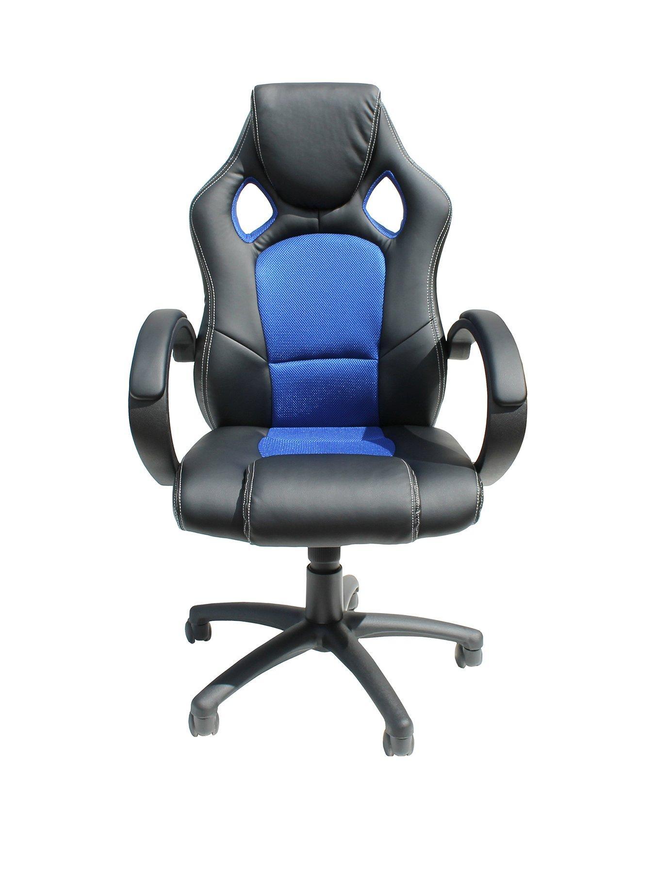 office chairs uk recliner chair covers walmart home garden www very co alphason jensen black blue