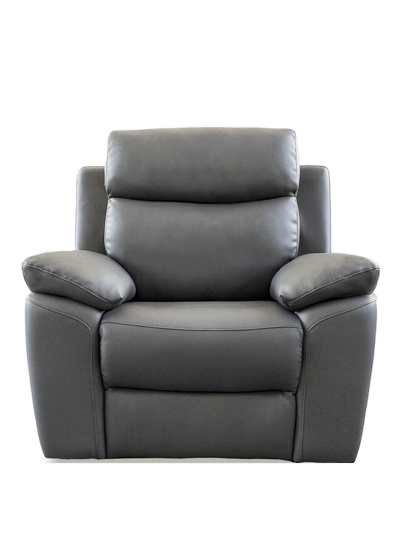 recliner chairs uk plastic chair mat armchairs home garden www very co edison luxury faux leather manual armchair