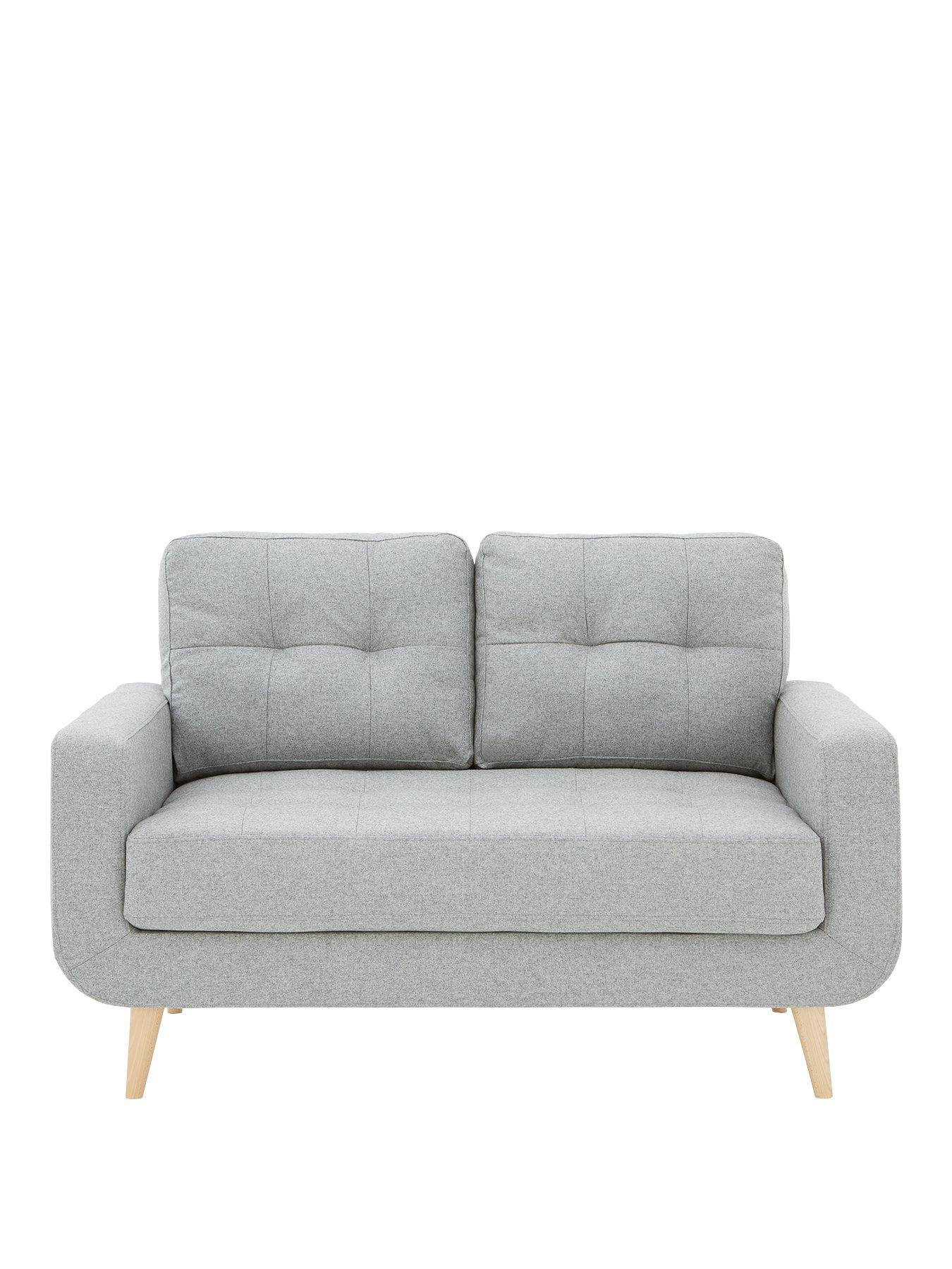 grey fabric sofa next brown cream cushions sofas corner recliner more very co uk skandi 2 seater