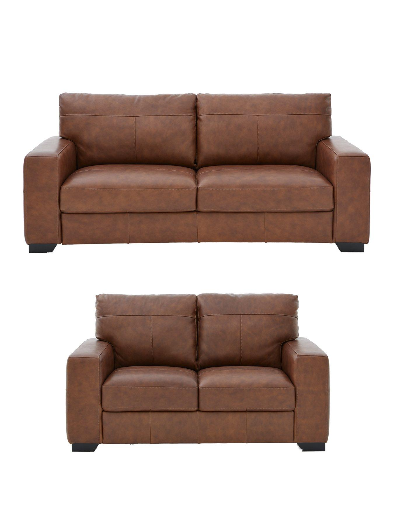 italy leather sofa uk contemporary light grey hampshire 3 seater 2 italian set buy and save very co