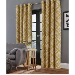 Curtains In Living Room Images Interior Designs For Small India Blinds Very Co Uk Catherine Lansfield Aztec Lined Eyelet