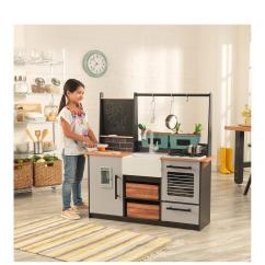 Wooden Play Kitchen Cheap Stainless Steel Appliances Farm To Table Playkitchen