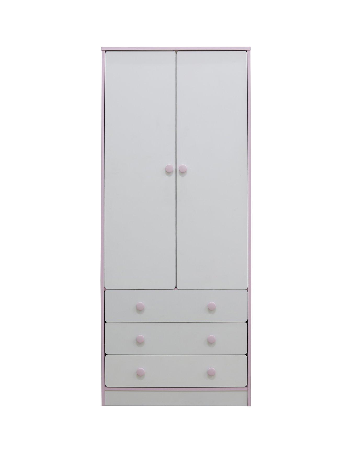 homeware peyton sofa plush bed adelaide 2 door 3 drawer kids wardrobe white pink very co uk