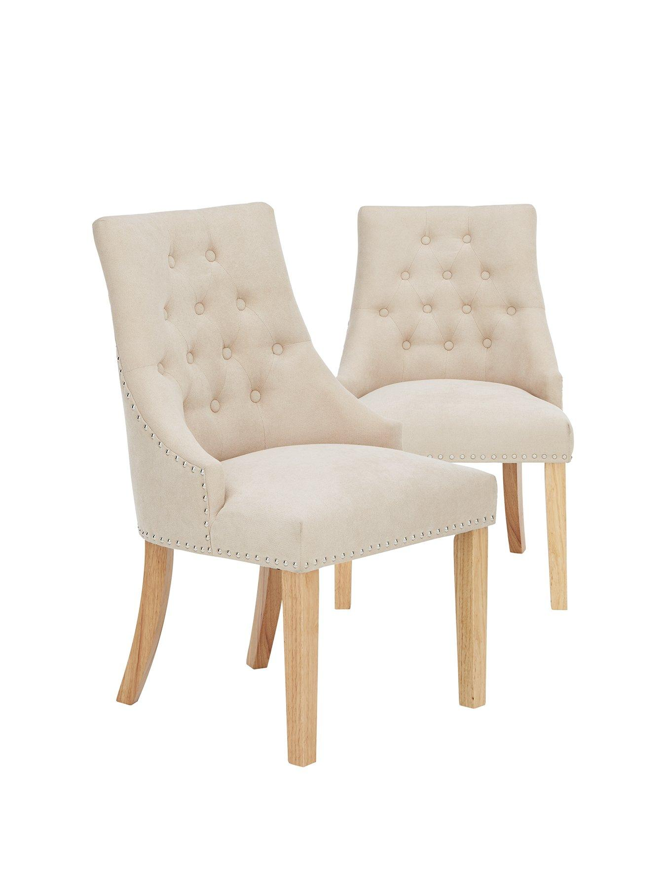 fabric dining chairs uk wicker lounge chair pair of warwick very co