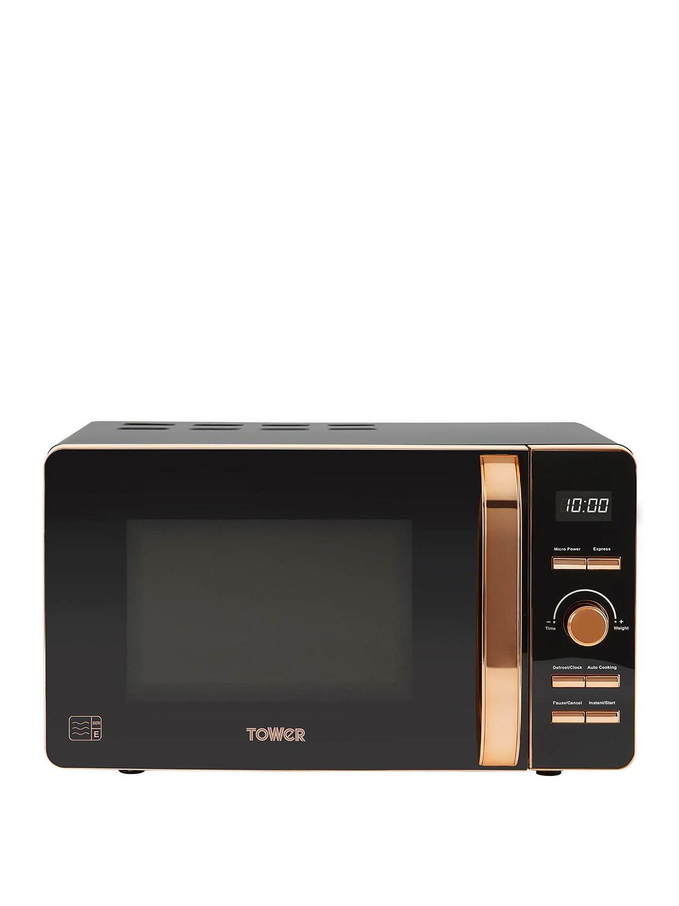20 litre digital microwave black rose gold
