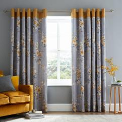Long Living Room Curtains Layout With Wood Stove Blinds Very Co Uk Catherine Lansfield Canterbury Lined Eyelet Ochre