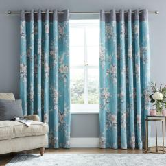 Long Living Room Curtains With Dining Table Designs Blinds Very Co Uk Catherine Lansfield Canterbury Lined Eyelet Teal