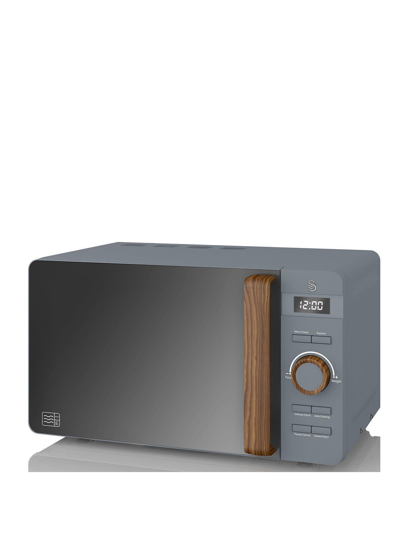 20l nordic digital microwave grey