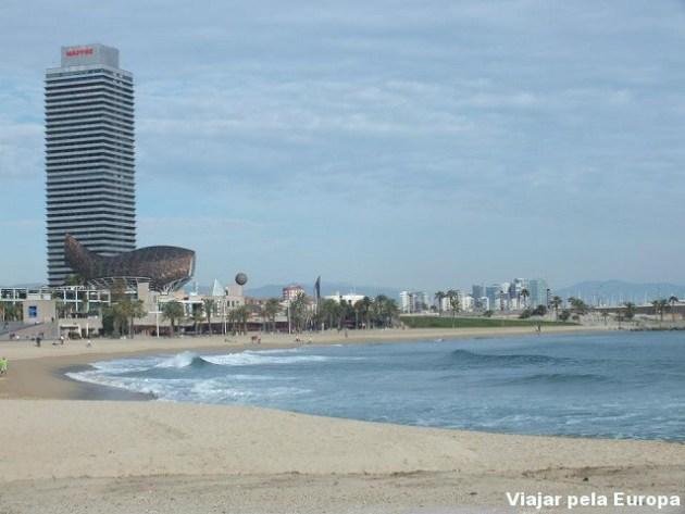 Praia em Barcelona.